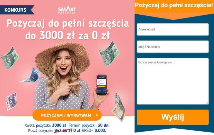 Pożyczaj do pełni szczęścia w SmartPożyczka i wygraj 5000 zł!