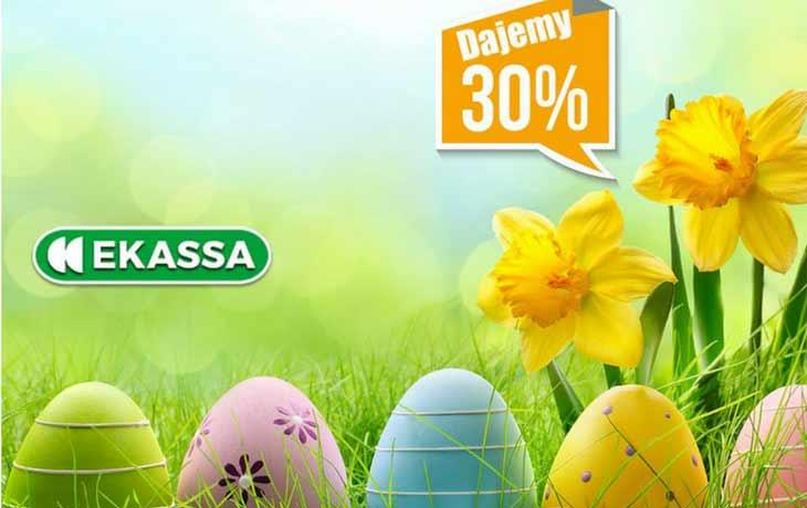 Ekassa -30% zniżki na Wielkanoc