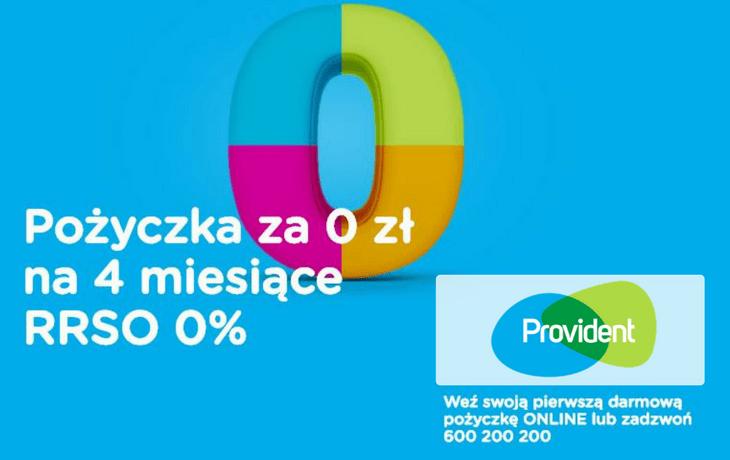 Provident – 4 miesiące za 0 zł!
