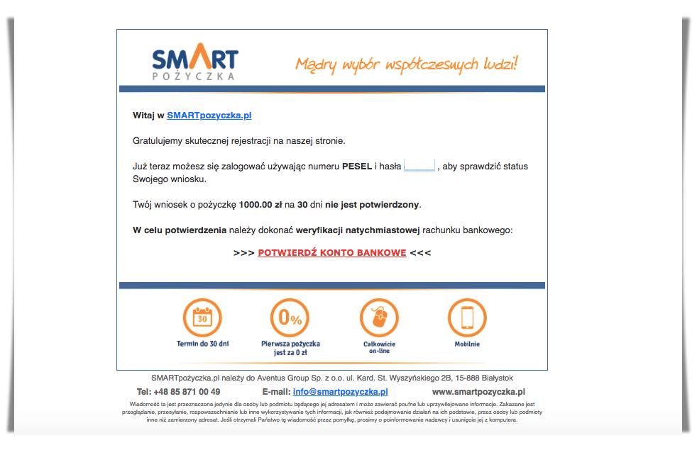 rejestracja Smart Pożyczka