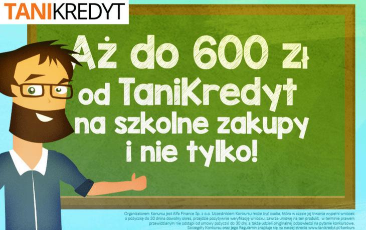Konkurs TaniKredyt na szkolne zakupy