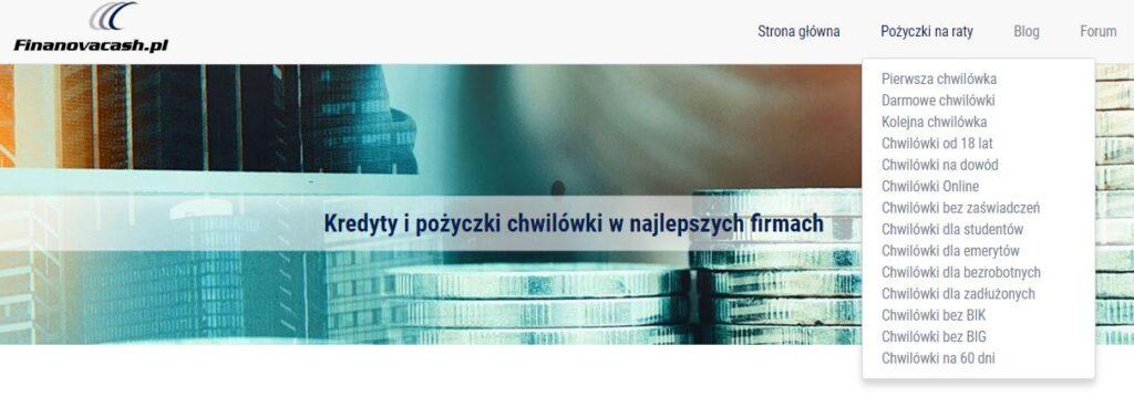 Porównywarka Finanovacash