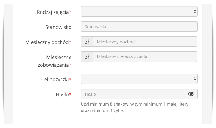 tanikredyt formularz 2