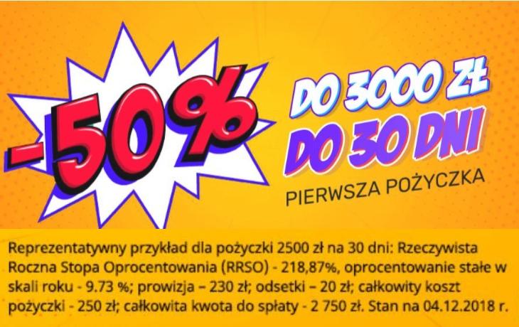 Credit.pl -50% na święta i nie tylko!