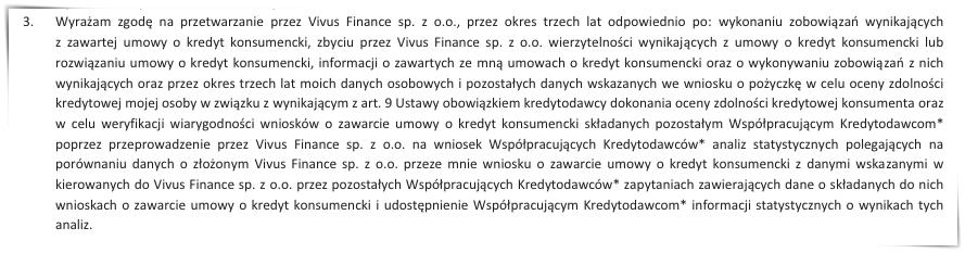 vivus kredytodawcy współpracujący
