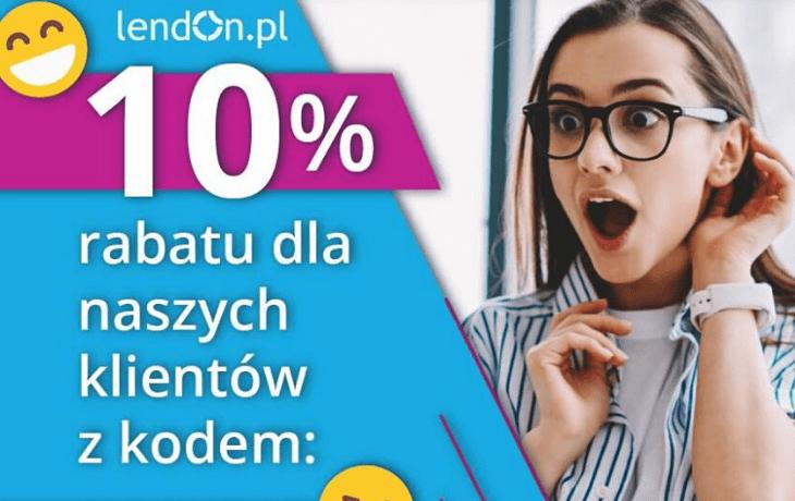 Promocja LendOn: rabat 10%! Sprawdź to!
